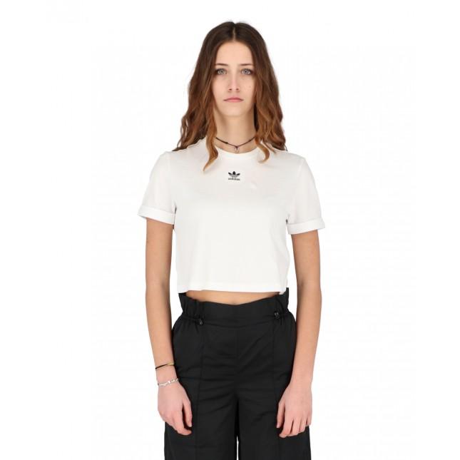 Adidas T-Shirt Donna Bianca Crop Top White