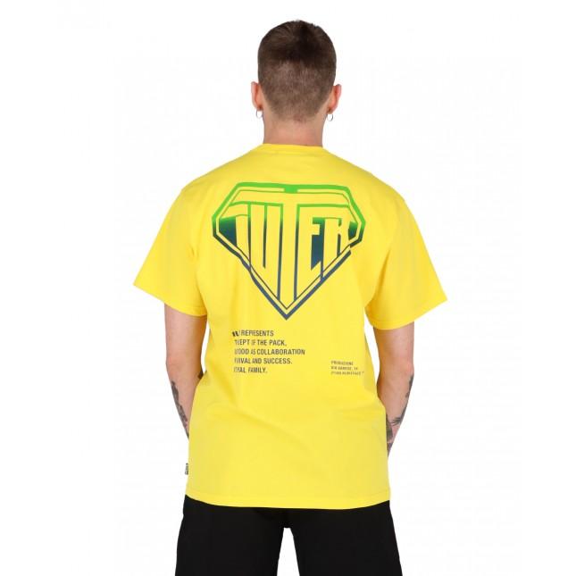 Iuter T-Shirt Uomo Gialla Double Logo Tee Yellow