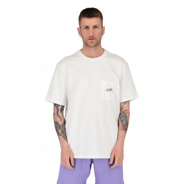 Adidas T-Shirt Uomo Bianca ADV Pocket Logo Tee White