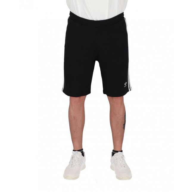 Adidas Pantaloncini Uomo Neri 3 Stripes Shorts Black