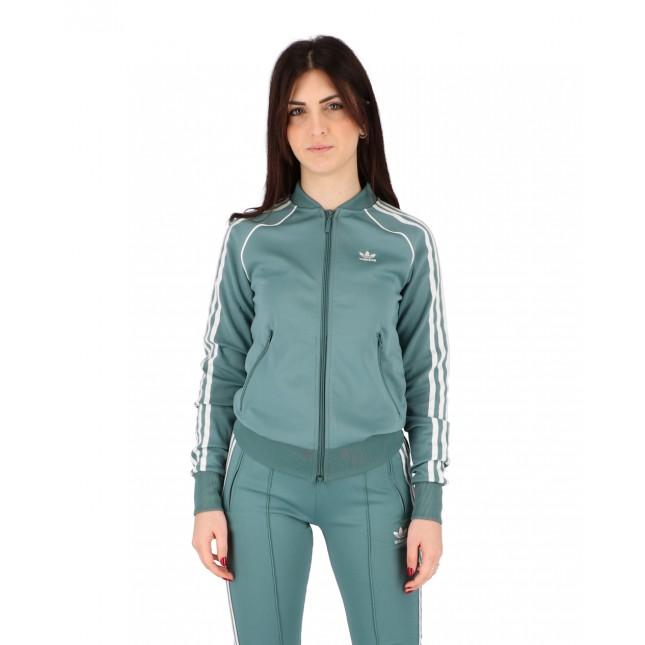 Adidas Giacca Donna Verde SST Tracktop Primeblue Hazy Emerald
