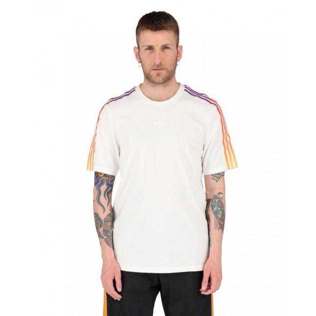 Adidas T-Shirt Uomo Bianca SPRT 3 Stripes Tee White