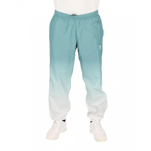Adidas Pantaloni Uomo 3D Trefoil Ombrè Trackpants White / Hazy Emerald