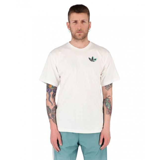 Adidas T-Shirt Uomo Bianca Still Life Summer Tee White