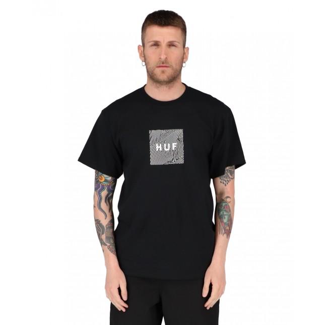Huf T-Shirt Uomo Nera Feels Tee Black