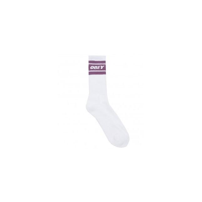 Obey Calze Cooper II Socks White / Purple Nitro