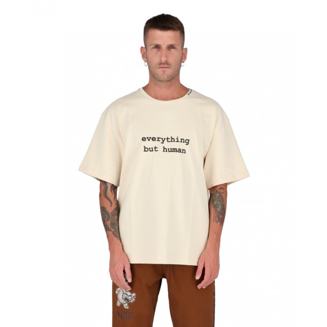 Acupuncture Alien T-Shirt Beige