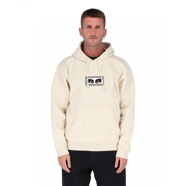 Obey Eyes Logo Hood Speciality Fleece Unbleached