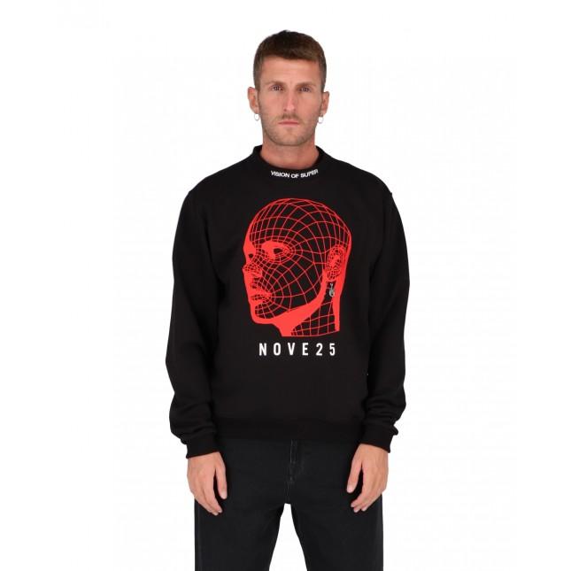 Vision of Super x 925 Red Face Crewneck Black