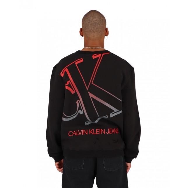 Calvin Klein Jeans Degrade Bold CK Black Graphic Crewneck CK Black
