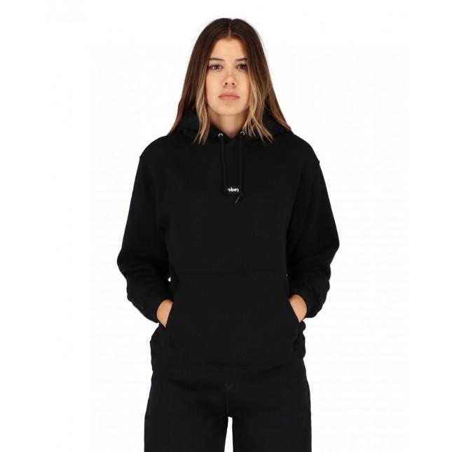 Obey Tag Hook Up Set Hooded Fleece Black