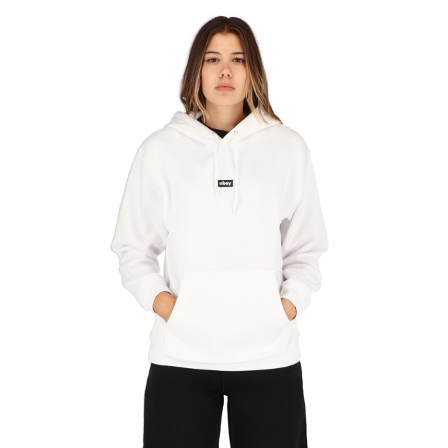Obey Tag Hook Up Set Hooded Fleece White