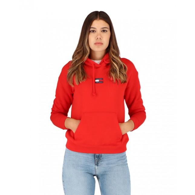 Tommy Jeans Center Badge Hoodie Deep Crimson