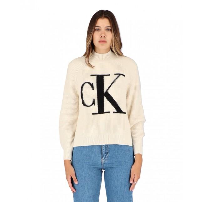 Calvin Klein Jeans CK Raglan Sweater Muslin / CK Black