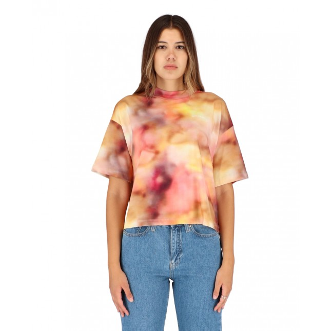 Calvin Klein Jeans Allover Print Tee Blurred Abstract AOP