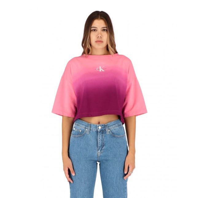 Calvin Klein Jeans Loose Boat Neck AOP Sweatshirt Gradient Dark Clove