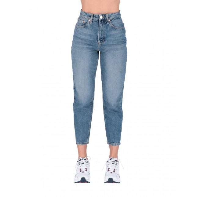 Tommy Jeans Donna Mom Jeans High Rise Tapered Sunday Mid Blue Rig