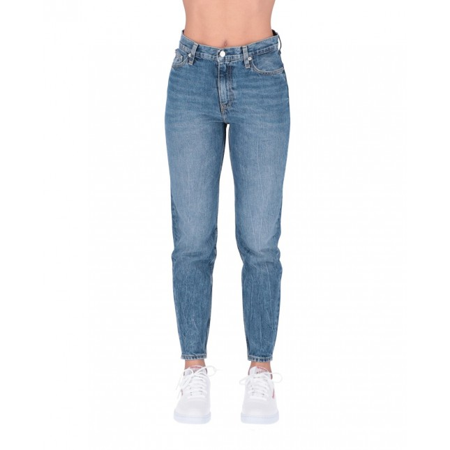 Calvin Klein Jeans Donna Mom Jeans Mid Blue