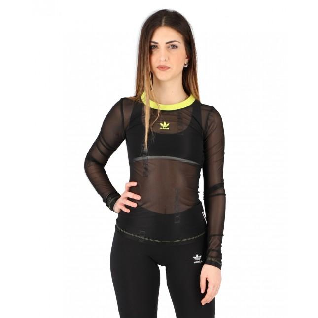 Adidas T-Shirt Donna Nera Sheer Longsleeve Black