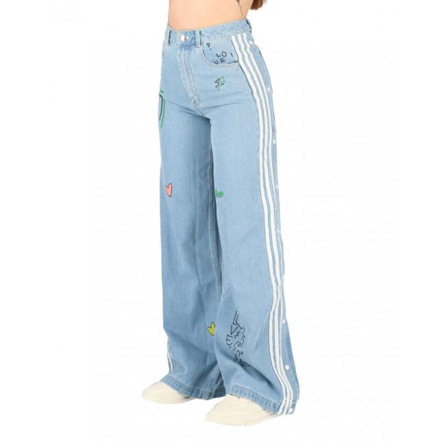 Adidas x Fiorucci Jeans Donna Denim Trackpants Clear Sky