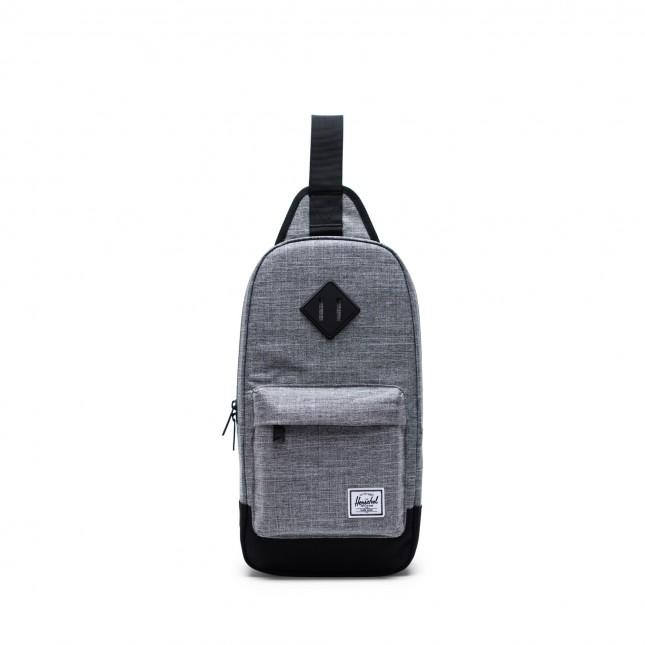 Zaino Monospalla Herschel Heritage Shoulder Bag Raven Crosshatch/Black