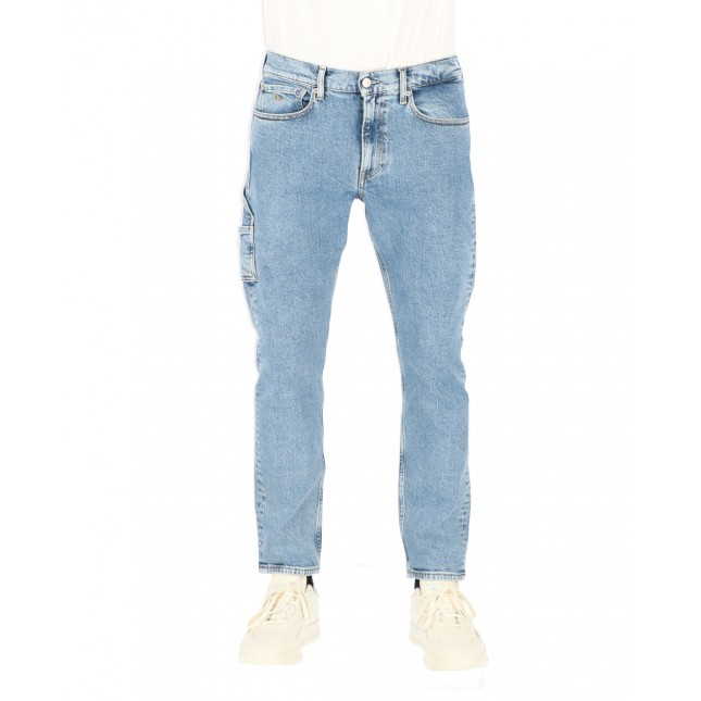 Calvin Klein Jeans Uomo Utility Slim Taper Iconic Light Blue