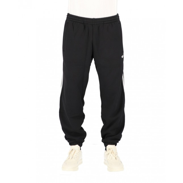 Adidas Pantaloni Uomo Neri 3 Stripes Wrap Sweatpants Black