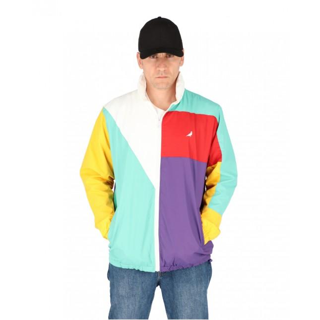 Staple Giacca Uomo Celeste Block Nylon Jacket Teal