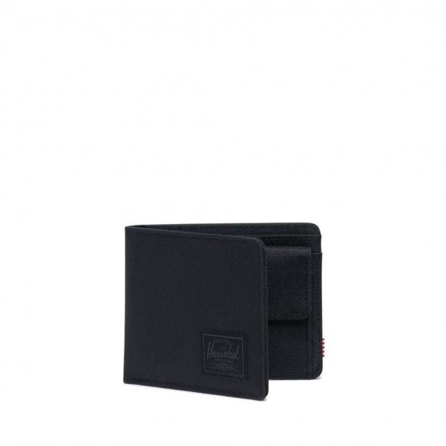 Portafoglio Herschel Roy Coin RFID Black/Black