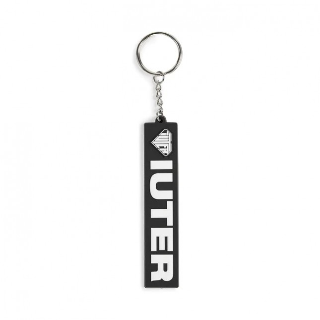 Iuter Portachiavi Nero Logo Keychain Black