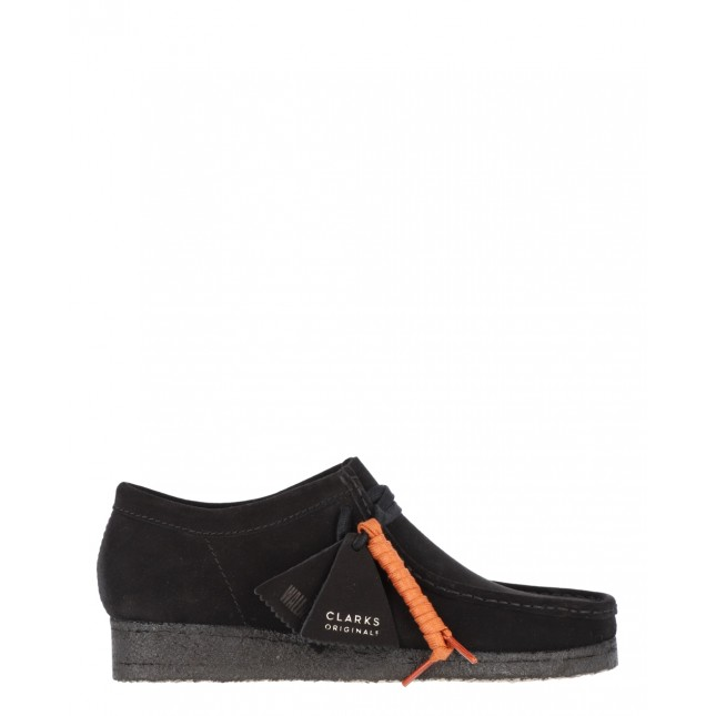 Clarks Scarpa Donna Wallabee Boot Black Suede