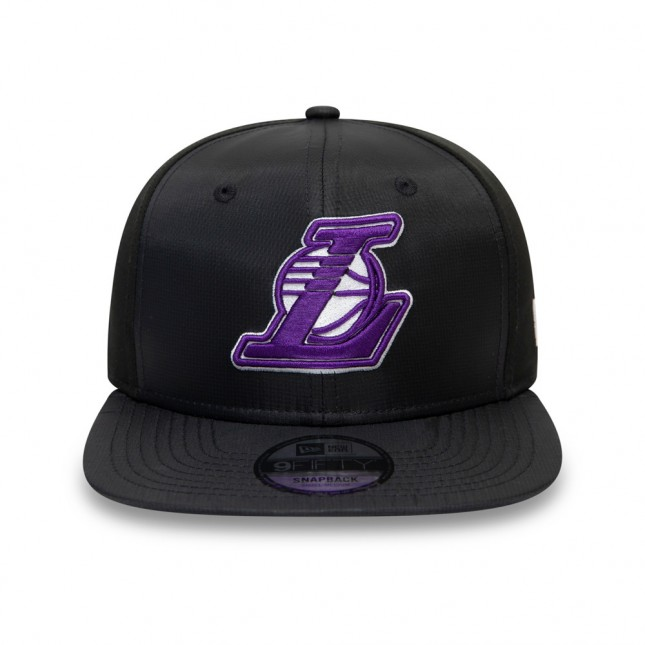 New Era Cappello Nero Ripstop Front 9FIFTY NBA Los Angeles Lakers Black