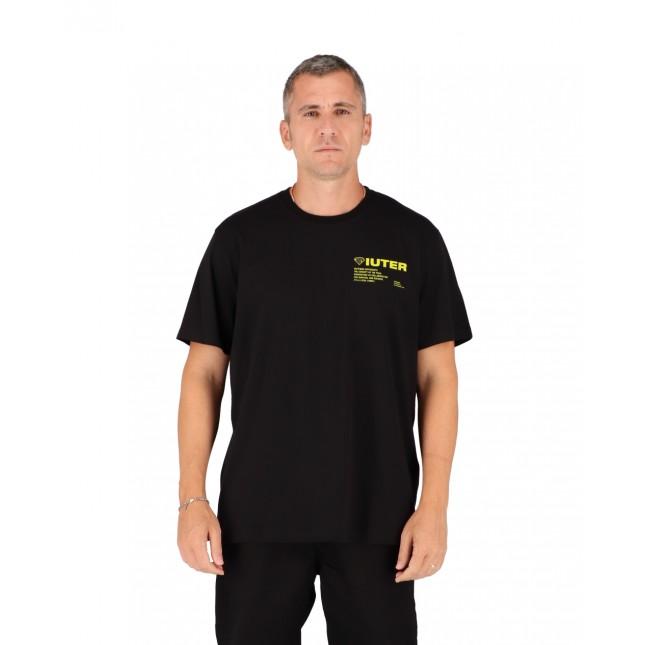 Iuter T-Shirt Uomo Nera Info Tee Black