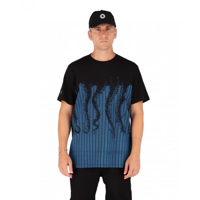 Octopus T-Shirt Uomo Nera / Blu Ascii Tee Black / Light Blue