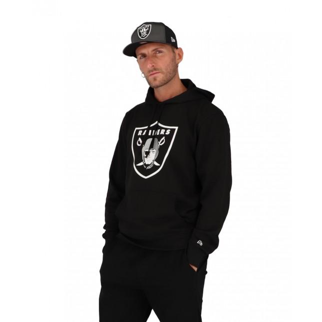 New Era Felpa Uomo Nera NFL Oakland Raiders Hoodie Black