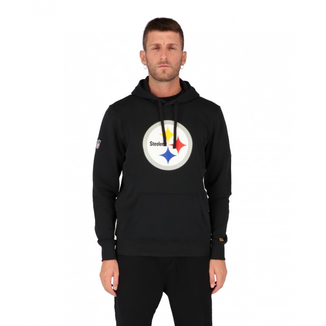 New Era Felpa Uomo Nera NFL Pittsburgh Steelers Hoodie Black