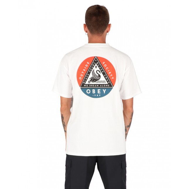 Obey T-Shirt Uomo Bianca Black Swan Classic Tee White
