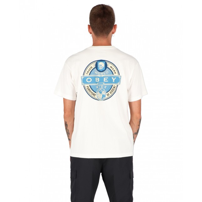 Obey T-Shirt Uomo Bianca Purveyors Of Dissent Organic Superior Tee White