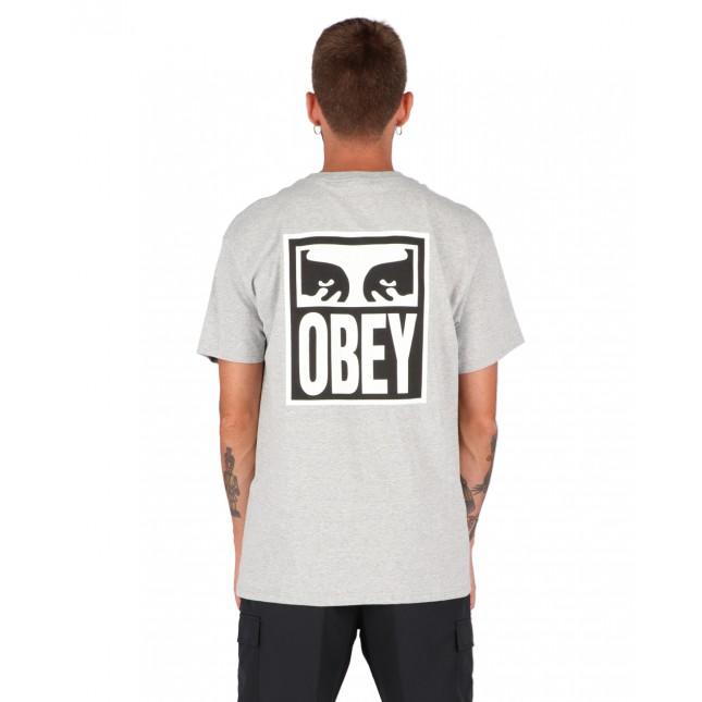 Obey T-Shirt Uomo Grigia Eyes Icon 2 Classic Tee Heather Grey