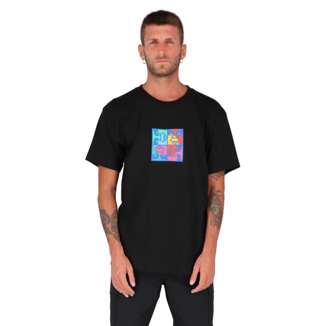 Obey T-Shirt Uomo Nera Squared Up Classic Tee Black