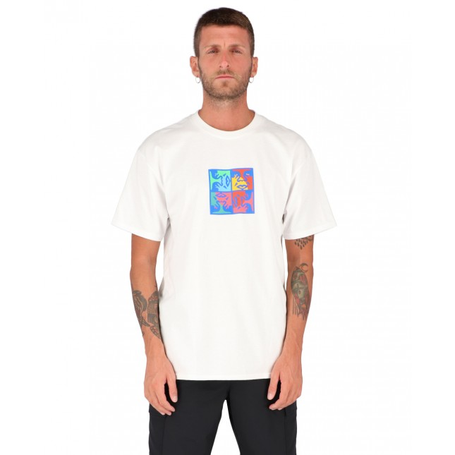Obey T-Shirt Uomo Bianca Squared Up Classic Tee White