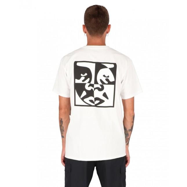 Obey T-Shirt Uomo Bianca Invert Covert Classic Tee White