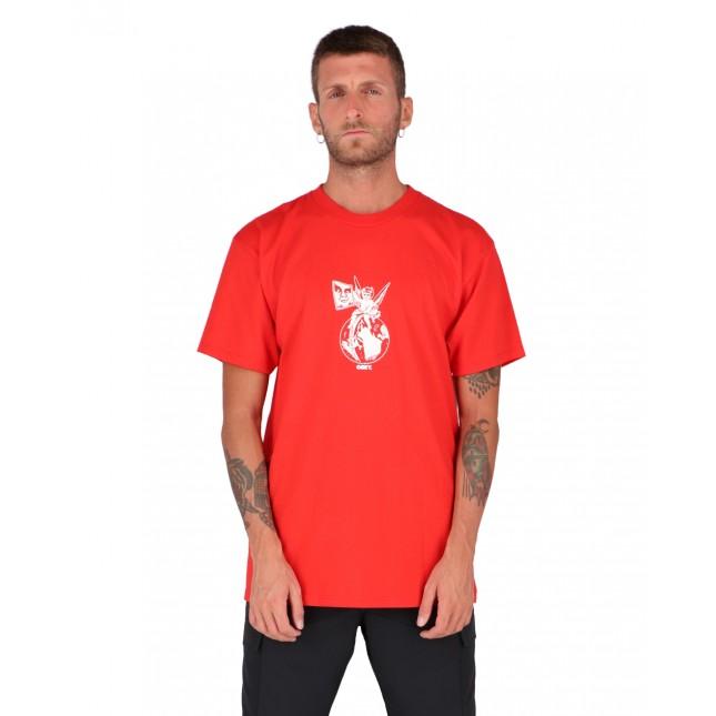 Obey T-Shirt Uomo Rossa Cherub Classic Tee Red