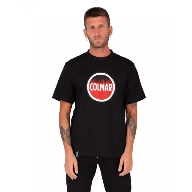 Vision of Super x Colmar T-Shirt Uomo Nera