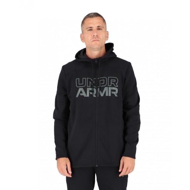 Under Armour Felpa Uomo Nera Baseline Full Zip Hoodie Black