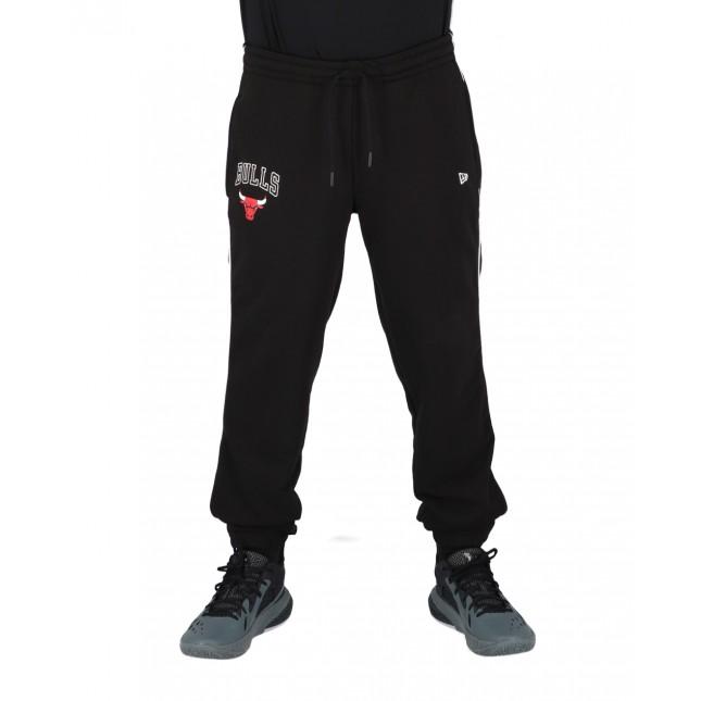 New Era Pantaloni Uomo Neri Piping Jogger NBA Chicago Bulls Black