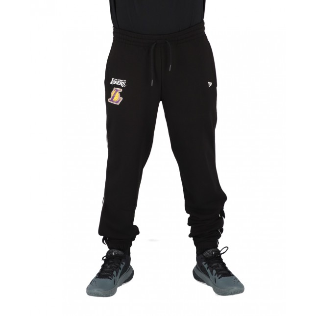New Era Pantaloni Uomo Neri Piping Jogger NBA Los Angeles Lakers Black