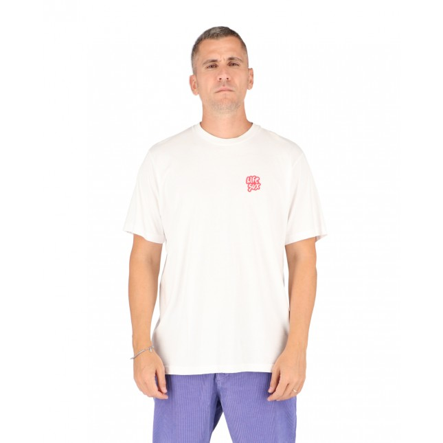 Life Sux T-Shirt Uomo Bianca Basic Tee White