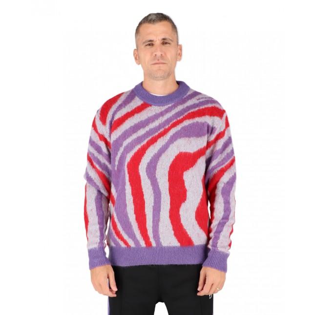 Life Sux Maglione Uomo Distorted Pattern