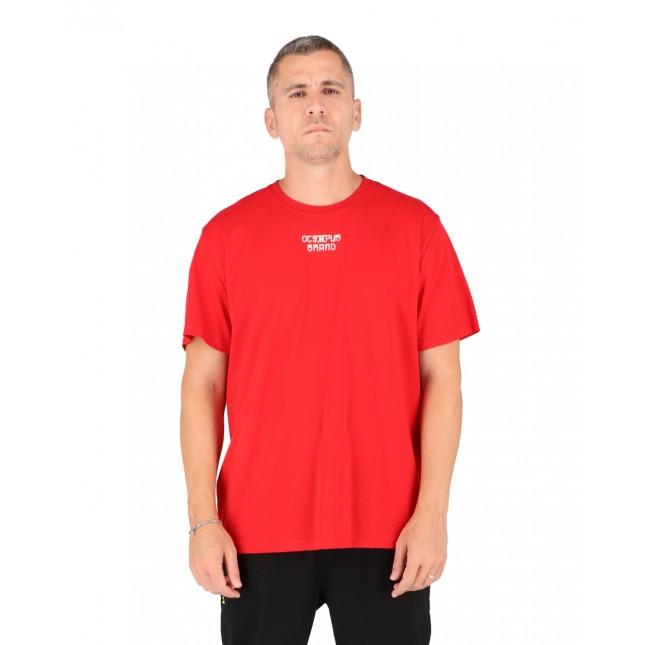 Octopus T-Shirt Uomo Rossa Bandana Logo Tee Red